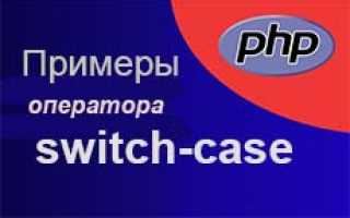 Php switch case default