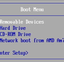 Hp bios boot menu